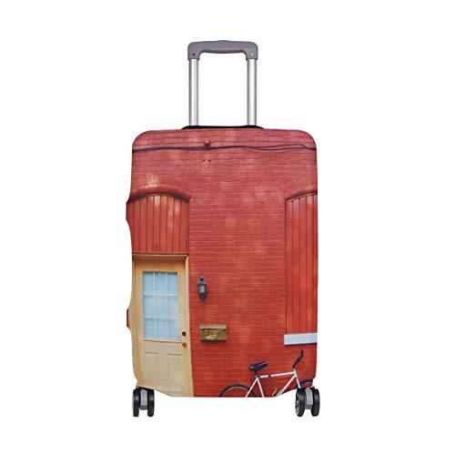 IUBBKI Reisegepäckdeckel Home Roter Backstein Haus Koffer Schutz FitSch Waschbare Gepäckabdeckungen