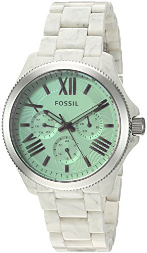 Fossil Women's AM4644 Cecile Multifunction Shimmer Horn Acetate Watch - http://coolthings.us