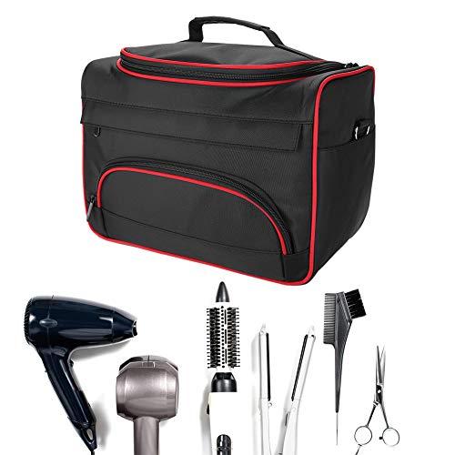 Umhängetasche Reisetasche, Tragbare Tasche, Handtasche GroßE Lagerung Multifunktions Make Up Reise Outdoor Home Friseur (Schwarz)