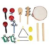 Weiyiroty Juego de Juguetes de Instrumentos Musicales, Juguete de Instrumentos Musicales para niños, Instrumentos Musicales para niños y Juguete de percusión para niños en casa