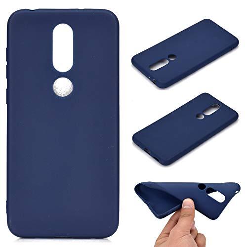 YYhin Custodia per Cover Nokia 5.1 Plus/Nokia 5.1+, Custodia Anti-Goccia in TPU all-Inclusive in Morbido Silicone Ultra-Sottile Case Cover [Colore Candy - Blu]