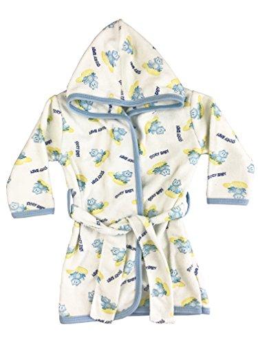origin-AL Home & Style Frosch Baby Bademantel mit Kapuze aus Baumwolle - 0-1 Jahre - Frottee Badetuch - saugfähig für Jungen und Mädchen - Kapuzenmantel für Kleinkinder und Kinder - Kinderbademantel