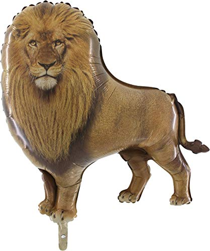TOYLAND® Globo de Papel de león Salvaje de 33 Pulgadas - Decoraciones para Fiestas de Animales de la Jungla