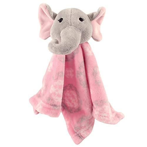 Hudson Baby Unisex Baby Security Blanket, Girl Elephant, One Size