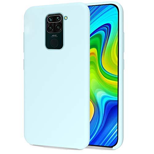 Oureidoo Funda para Xiaomi Redmi Note 9, Funda para Silicona Líquida con [Tacto Agradable] [Protección contra Caídas] [Anti-Arañazos] para Xiaomi Redmi Note 9 - Azul Claro