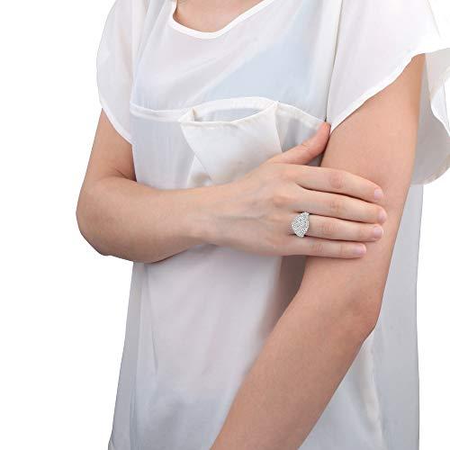 Morellato Anello da donna, Collezione Tesori, in argento 925‰, zirconi, bianco - SAIW65012