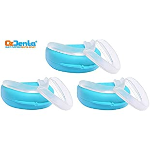 Pack of 6 - Dental Custom Night Mouth Guard Slim grind Protectors - Mouthpiece Retainer Thin Fit Sleep Bite Splint to Stop Teeth Grinding, TMJ Tray, Bruxism nightguard, Clenching gum shield with 2 Storage Cases VA20
