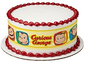 Whimsical Practicality Curious George Funny Faces Edible Icing Image Cake Border Strips