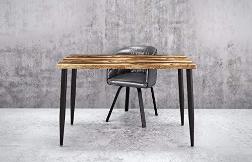 UMBUZÖ Solid Reclaimed Wood & Metal Desk, Writing Desk, Home Office Desk