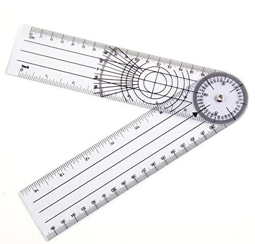 EEYZD Goniómetro de la Columna Vertebral, Regla de medición de la articulación, ortesis, 360 ° múltiples Reglas, Adecuado para hospitales de Pacientes, Herramientas de diagnóstico ortopédicas