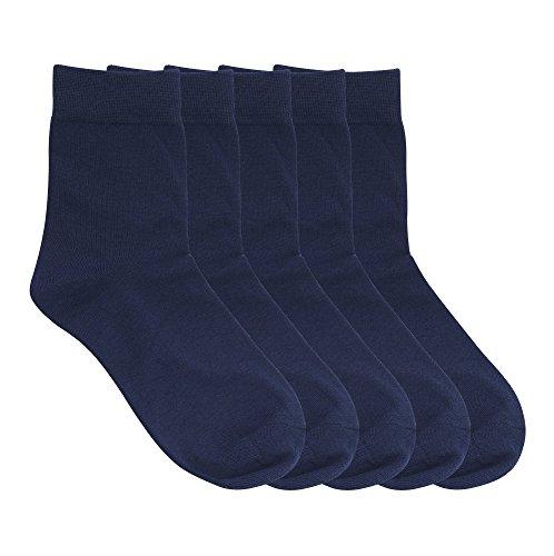 Cinco Pares Calcetines de Boda y Negocios. Fibra de Bambú - Natural para Hombres, Transpirables y Cómodos.