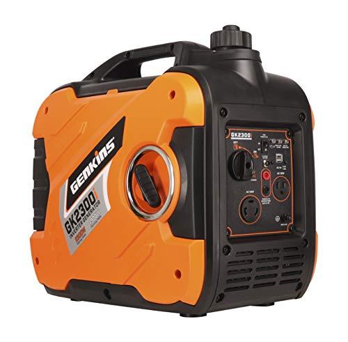 Genkins 2300 Watt Portable Inverter Generator Ultra Quite Gas Powered RV Ready Camper Friendly