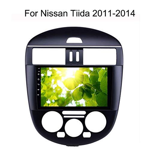 LFEWOZ Nav Android GPS Navi de navegación - para Nissan Tiida 2011-2014 con el Dispositivo Bluetooth de la música 4g WiFi navegación, el Apoyo a 64g SD con 10,1 Pulgadas de Pantalla táctil