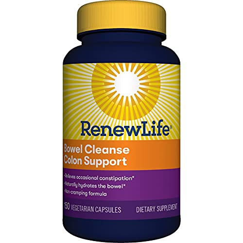 Renew Life® Adult Cleanse - Bowel Cleanse Colon Support, Constipation Relief - Dairy & Soy Free - 150 Vegetarian Capsules