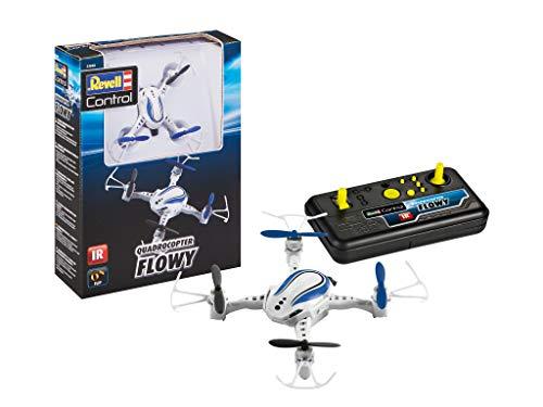 Revell Control Quadcopter Flowy IR Fernsteuerung für Einsteiger sehr einfach zu steuern 23838, Multicolor, Länge: ca. 9 cm