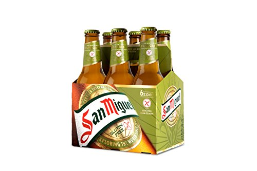 San Miguel Especial Sin Gluten Cerveza Dorada Lager - Pack de 6 Botellas x 33 cl, 5,4% Volumen de Alcohol