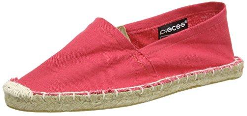 PIECES Damen HAISHA Espadrillos Espadrilles, Pink (Persimmon), 38