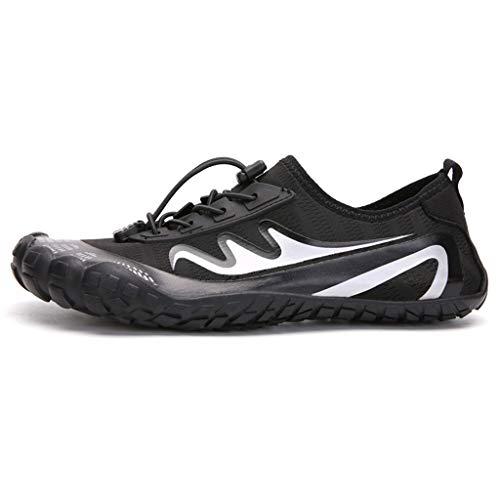 Río al Aire Libre Zapatos Upstream Zapatos de Agua Resistente a Corte Antideslizante Resuelto Snorkeling Zapatos de Playa para Hombres y Mujeres Calcetines De Agua (Color : White, Size : 41EU)