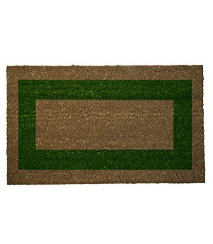 MAURER 5291060 Felpudo Fibra Coco Raya Verde 45x75 cm.