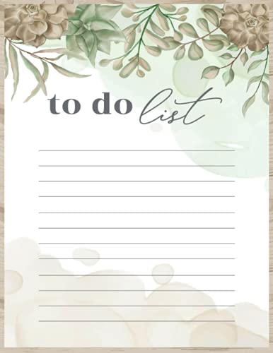 to Do List: To Do List Notebook, 50 Page A4, to-Do List Memo for Grocery, Shopping Lists, Students, Home & Office - Made in UK - Lovely Design
