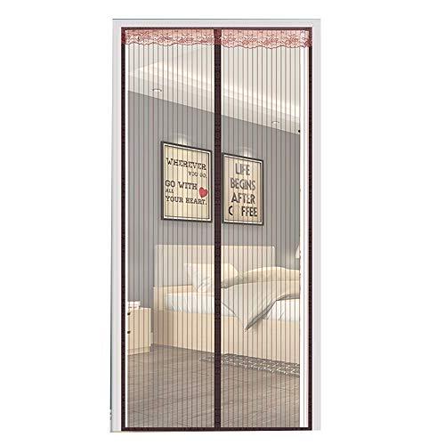 JIAYUAN Mosquitera Puerta Magnetica La magia de la puerta principal de la pantalla del insecto, con imanes potentes, reforzado Heavy Duty cortina del acoplamiento con el marco completo Patio francesa