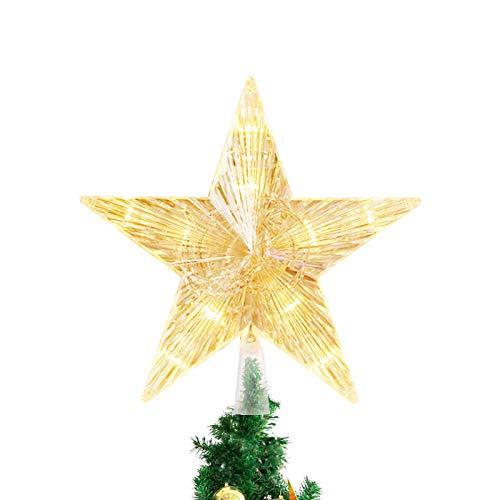Weihnachtsbaum Stern,Topper Lichter,Weihnachtsbaumspitze glitzernder,baumkronen Lampe,beleuchtete Sterne,funkelnden Sterne,Weihnachtsbaumspitze Dekoration,Weihnachten Dekoration LED(15cm)