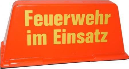 Dachaufsetzer Feuerwehr im Einsatz rot/gelb