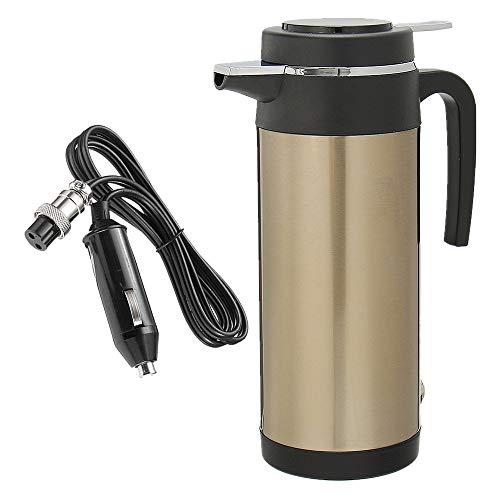 24V 1200ML Hervidor eléctrico para coche portátil, Taza de bebida de la taza de la calefacción del viaje del coche,Caldera De Agua De La Caldera De Calefacción para agua, té, café, leche (24V)