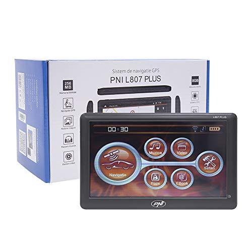 Navigationssystem GPS PNI L807 Plus 7-Zoll-Bildschirm, 800 MHz, 256 MB DDR, 8 GB interner Speicher, UKW-Sender