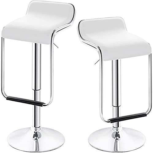 Huracan Bar Stools Set of 2 Bar Chairs White Bar Stool with Back Modern Bar Chair High Island Chairs...