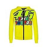 Valentino Rossi VRKFL353501001, Felpa 46 Stripes Bambino Unisex, Giallo, 1/3 anni