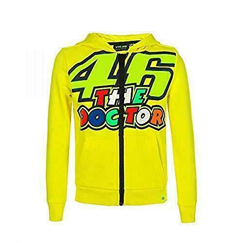 Valentino Rossi VRKFL353501004, Felpa 46 Stripes Bambino Unisex, Giallo, 4/5 anni