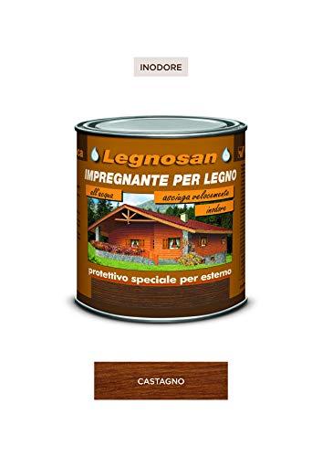 Veleca LEGNOSAN Castagno - ml. 750 IMPREGNANTE PER LEGNO ALL'ACQUA INODORE