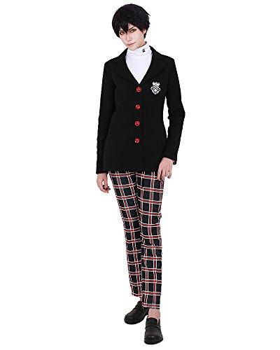 miccostumes Protagonist School Uniform Cosplay Costume (Men L) Black