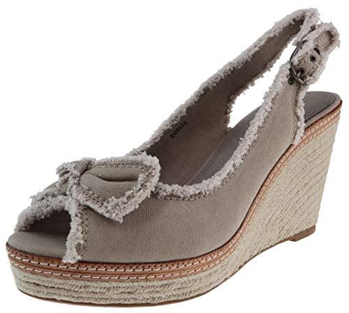 ESPRIT Plateaupumps Anna Bow beige Textil, Schuhgröße:41.0