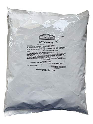 Premium Textured Vegetable Protein TVP Chunks (Unflavored Chunks, 1 Kilogram)