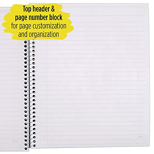 """Five Star Interactive Notetaking, 1 Subject, Wide Ruled Spiral Notebook, 100 Sheets, 11"""" x 8-1/2"""", Color Selected For You, 1 Count (06560), 16 Color Selected For You Photo #4"""