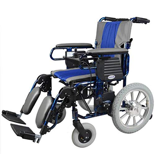 YOLL L&T Silla De Ruedas Inteligente Silla De Ruedas Eléctrica Power Chair Plegable...