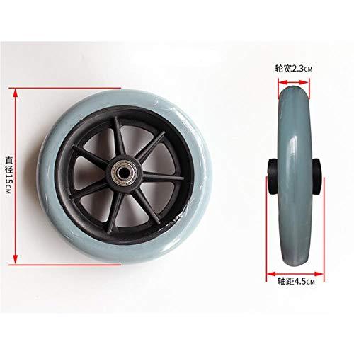 QINQ 2 PCS 6 Zoll Rollstuhl Vorderräder Stuhl Lenkrad Für Rollstuhlfahrer