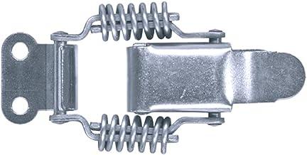 GOEBEL® - 100 stuks - Spansluiting 42 SP klein kapslot met veer rechte grondplaat incl. tegenhaak roestvrij staal A2 (V2A)...