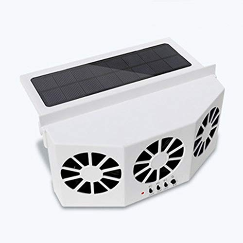LWW Best Solar Energy Vehicle Exhaust Fan, Radiator Car Window Windshield Solar Power Air Vent Cool Exhaust Dual Fan, System Cooler A/B