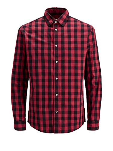 JACK & JONES Male Hemd Kariertes MBrick Red