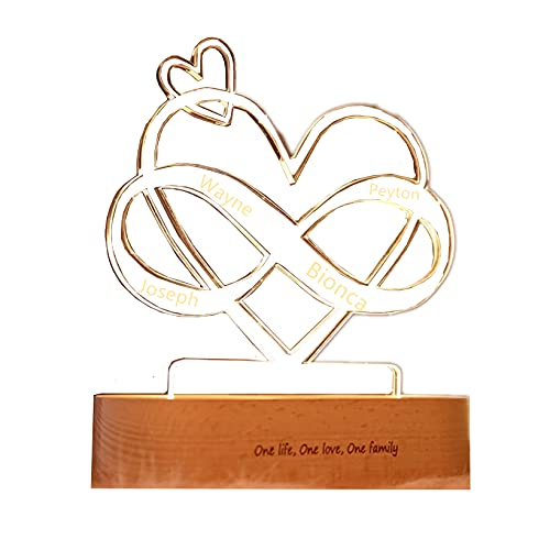 Personalized Sign Love Heart Love Light for 3D Art Decorative Signs for Bedroom Lover Room Lamp