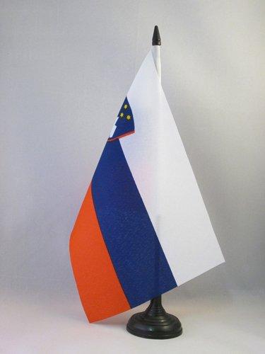 AZ FLAG Bandera de Mesa de Eslovenia 21x14cm - BANDERINA de DESPACHO ESLOVENA 14 x 21 cm