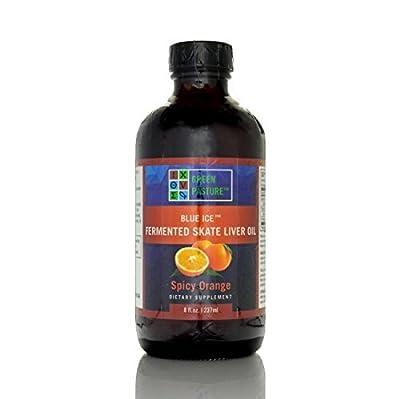 Green Pasture Blue Ice Fermented Skate Liver Oil - Liquid - Spicy Orange 237 ml