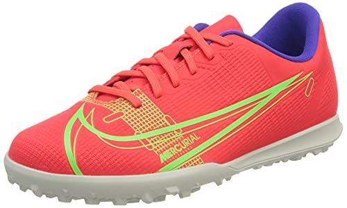 Nike JR Vapor 14 Club TF, Scarpe da Calcio, BRT Crimson/Mtlc Silver-Indigo Burst-White-Rage Green, 36 EU