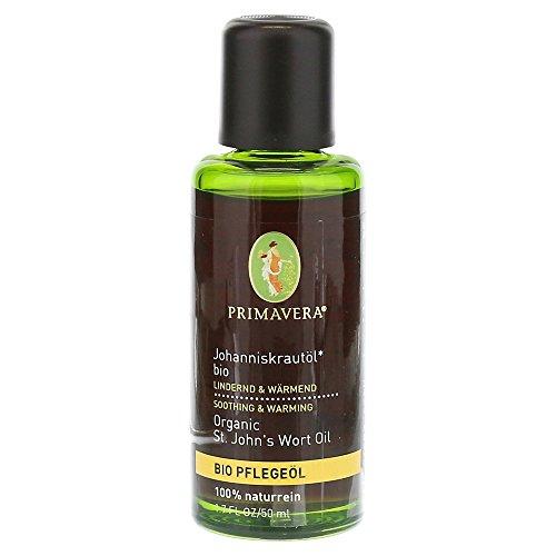 PRIMAVERA Pflegeöl Johanniskrautöl bio 50 ml - Naturkosmetik, Pflanzenöl, Hautöl - beruhigend, wärmend bei rissiger Haut