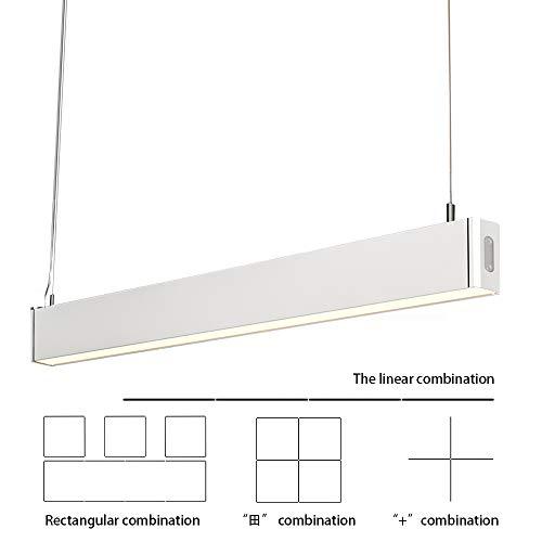 KJLARS Pendelleuchte LED Büroleuchte Deckenleuchte Pendellampe, Büro Hängelampe, höhenverstellbar, Pendellänge maximum 150 cm, 1200*30*80mm 36W 3000K für hängeleuchte esstisch Arbeitszimmer Wohnzimmer