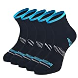 WEEKEND PENINSULA 5 Pares Calcetines de Running Deportivos Compresión Ligera Hombres Mujer de Deporte Transpirables (Negro, m)