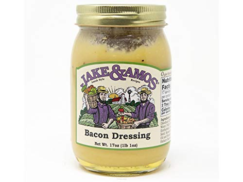 Jake & Amos Real Bacon Salad Dressing, 16 Oz. Jar (Pack of 2)